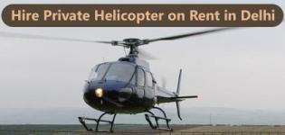 Hire Private Helicopter on Rent in Delhi India
