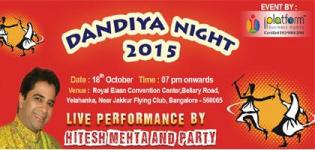 Hitesh Mehta in Bangalore at ELAAN Convention Center for Dandiya Night 2015