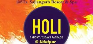 Holi Celebrations 2018 in Udaipur at Justa Sajjangarh Resort and Spa