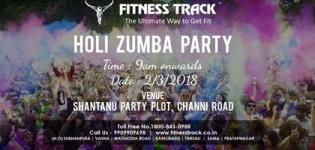 Holi Zumba Party 2018 in Vadodara at Fitness Track Gym Date and Details
