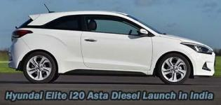 Hyundai Elite i20 Asta Diesel Launch in India - Price - Specification - Images