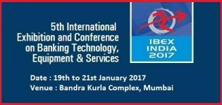 IBEX INDIA 2017 - 5th International Banking Expo Mumbai at Bandra Kurla Complex on January