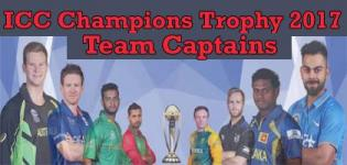 ICC Champions Trophy 2017 Team Captains Name List