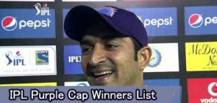 IPL Purple Cap Winners List - Indian Premier League All Seasons Purple Cap Holder Players Name