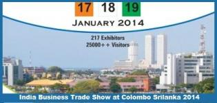 India Business Trade Show at Colombo Srilanka in January 2014