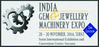 India Gem Jewellery Machinery Expo 2014 IGJME in Surat for 2nd Edition