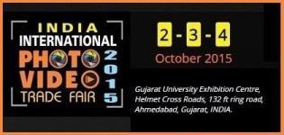 India International Photo Video Trade Fair 2015 in Ahmedabad Gujarat
