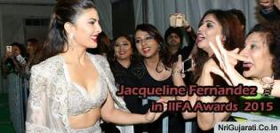 Indian Actress Jacqueline Fernandez in IIFA Awards 2015 Front Open Dress Hot Pics New Photos