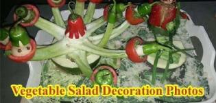 Indian Vegetable Salad Decoration Ideas - Design Photos - Ingredients Images