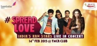 SPREAD LOVE - India's Raw Stars Live in Concert in Ahmedabad 14th February 2015