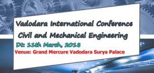 International Conference on Civil and Mechanical Engineering in Vadodara on 11th March
