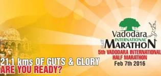 International Half Marathon 2016 in Vadodara Gujarat on 7 February - Date - Route - Venue