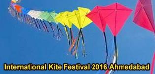 International Kite Festival 2016 Celebration in Ahmedabad at Sabarmati River Front