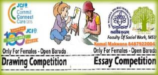 JCI Baroda Presents - Open Drawing & Essay Competition for Females on 8 March 2015