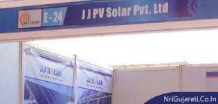 J J PV Solar Pvt. Ltd. Stall at THE BIG SHOW RAJKOT 2014