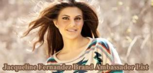 Jacqueline Fernandez Brand Ambassador List - Endorsement Photo Gallery