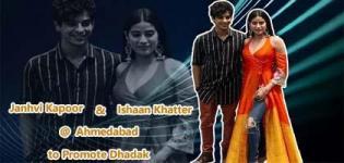 Janhvi Kapoor and Ishaan Khattar Arrived at Ahmedabad to Promote their Film Dhadak