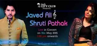 Javed Ali and Shruti Pathak in Rajkot - Live in Concert on 31st May 2015 in Neel City Club