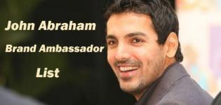 John Abraham Brand Ambassador List - Endorsement Photo Gallery