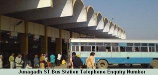 Junagadh ST Bus Station Telephone Enquiry Number - Depot Information Contact No Details