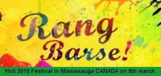KC Group Canada Presents Holi Rang Barse 2015 in Mississauga on 8th March