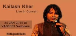 Kailash Kher Live in Concert 2015 at Vadodara India on 24 January - VADFEST 2015