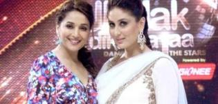 Kareena Kapoor in White Anarkali Dress on Jhalak Dikhhla Jaa Season 7