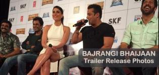 Kareena Kapoor in White One Piece with Salman Khan at BAJRANGI BHAIJAAN Trailer Release Event