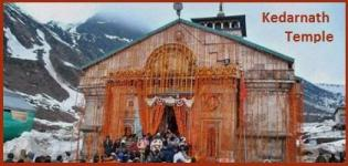Opening Date of Kedarnath Temple 2015 - Start Date of Kedarnath Yatra 2015