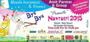 Khavda Investment and Finance Presents Bye Bye Navratri 2015 at Rajvi Resort Gandhidham