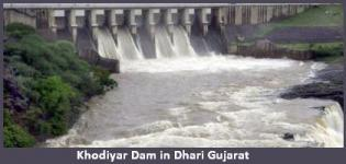 Khodiyar Dam in Dhari near Amreli Gujarat - History - Information - Photos