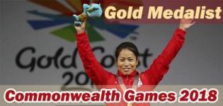 Khumukcham Sanjita Chanu Gold Medalist in Commonwealth Games 2018 for Weightlifting