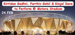 Kirtidan Gadhvi, Parthiv Gohil & Kinjal Dave to Perform at Motera Stadium on 24 February