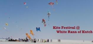 Kite Festival Kutch - Kite Flying Festival at White Rann of Kutch Gujarat Photos