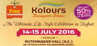 Kolours Designer Show 2016 in Rajkot at Nutannagar Hall on 14th & 15th July