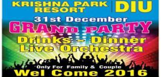 Krishna Park Resort Diu Presents 31st December Grand Party 2015 at Lake Garden Resort