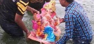 LIVE Ganesh Visarjan Surat Photos - Ganpati Visarjan in Surat Recent Pictures