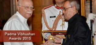 LK Advani Honoured with Padma Vibhushan Award 2015 in Delhi