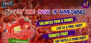 La Tomatina 2.0 Holi 2019 at Aarya Grand Hotels & Resorts Ahmedabad