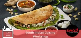 Learn Different Types of South Indian Recipes in Just 2 Days in Cooking Workshop