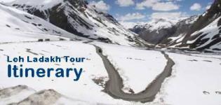 Leh Ladakh Tour Packages Itinerary - Itinerary for Leh Ladakh Travel Trip