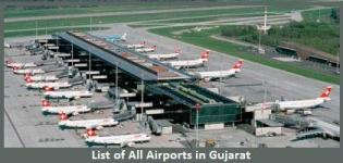 List of All Airports in Gujarat India - Main and Major Domestic & International Airports