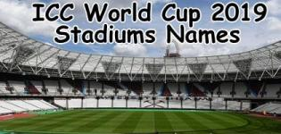 List of ICC World Cup 2019 Stadiums - ICC Cricket World Cup 2019 Venue