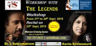 Live Music Workshop at New Jersey NJ USA by with Kavita Krishnamurthy and Dr L Subramaniam