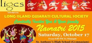 Long Island Gujarati Cultural Society Present Live Parth Oza Navratri 2015 in South Huntington USA
