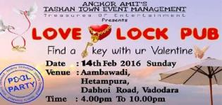 Love Lock Pub Valentine Pool Party 2016 in Vadodara at Aambawadi on 14 February