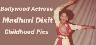 Madhuri Dixit Childhood Pics - Bollywood Celebrity Rare Childhood Photos - Bollywood Actress Childhood Pictures