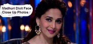 Madhuri Dixit Face Close Up Photos - Lovely Beautiful Facial Expression of Bollywood Actress