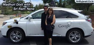 Madhuri Dixit with her Husband Sri Ram Nene Photos at Google Self Driving Car during  USA Trip 2015