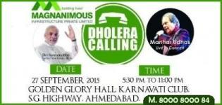 Magnanimous Infra Presents Manhar Udhas Live in Concert with Dholera Calling Event in Ahmedabad